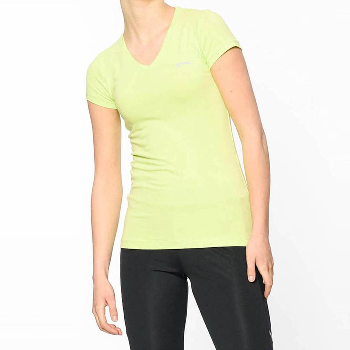 Açık Yeşil Kadın Kısa Kol T-Shirt ST18TK021-888