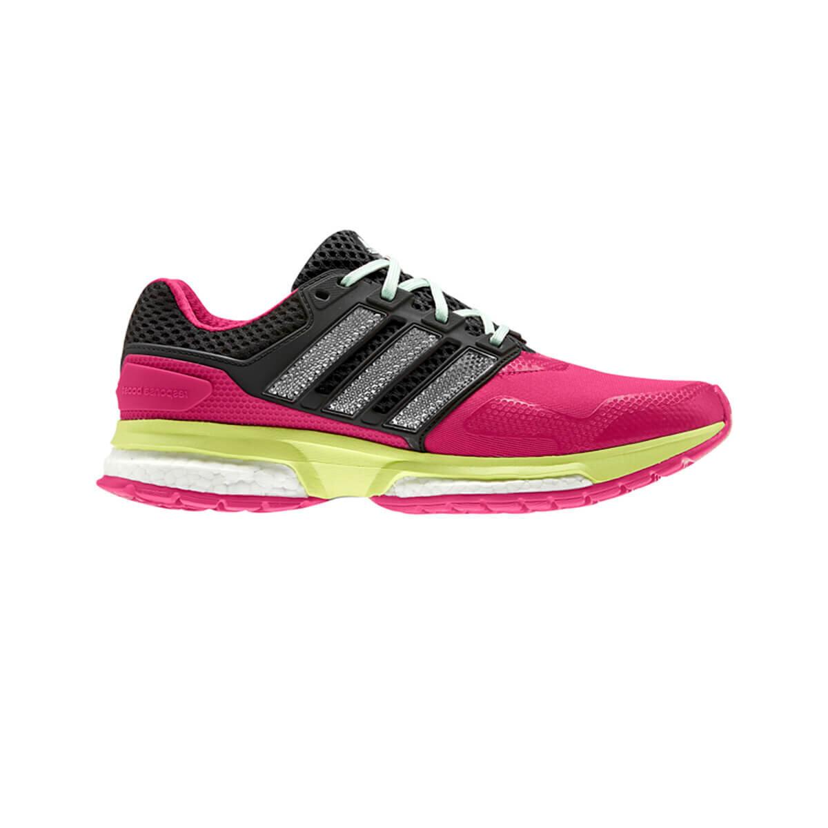 Koyu Pembe Kadın Koşu Ayakkabısı RESPONSE BOOST 2