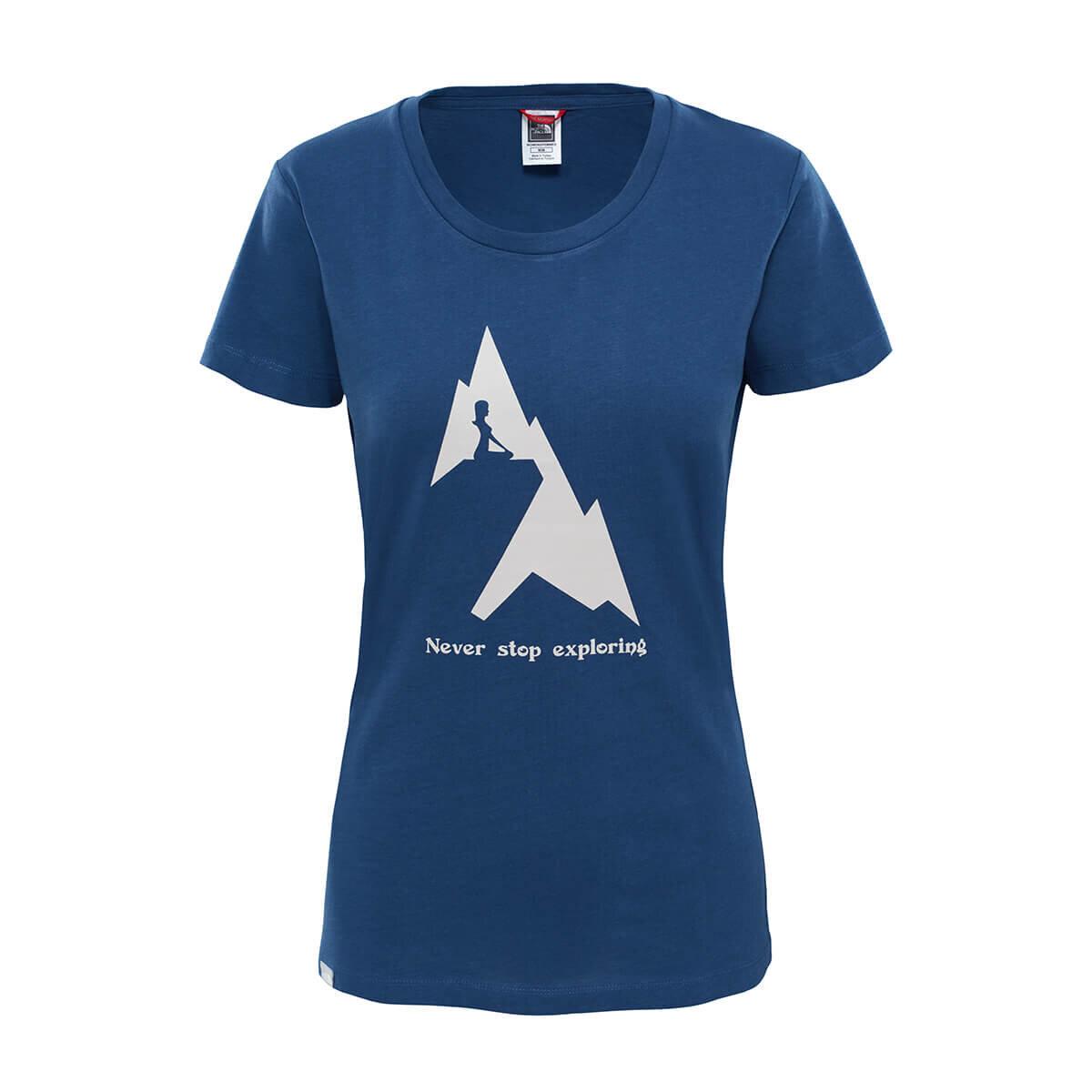 THE NORTH FACE MAVI Kadın Kısa Kol T-Shirt T93K25N4L