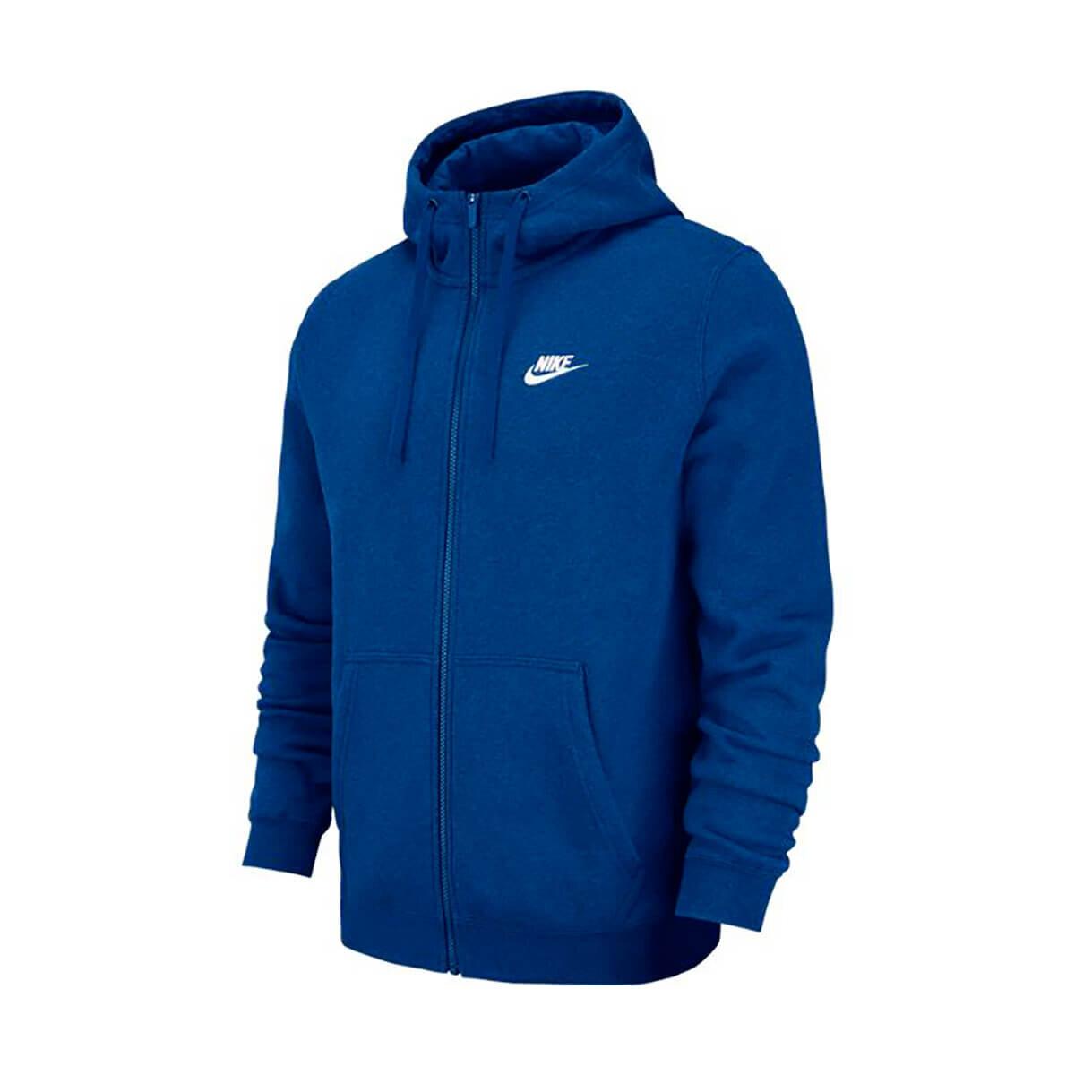 İndigo Erkek Sweatshirt M NSW CLUB HOODIE FZ BB