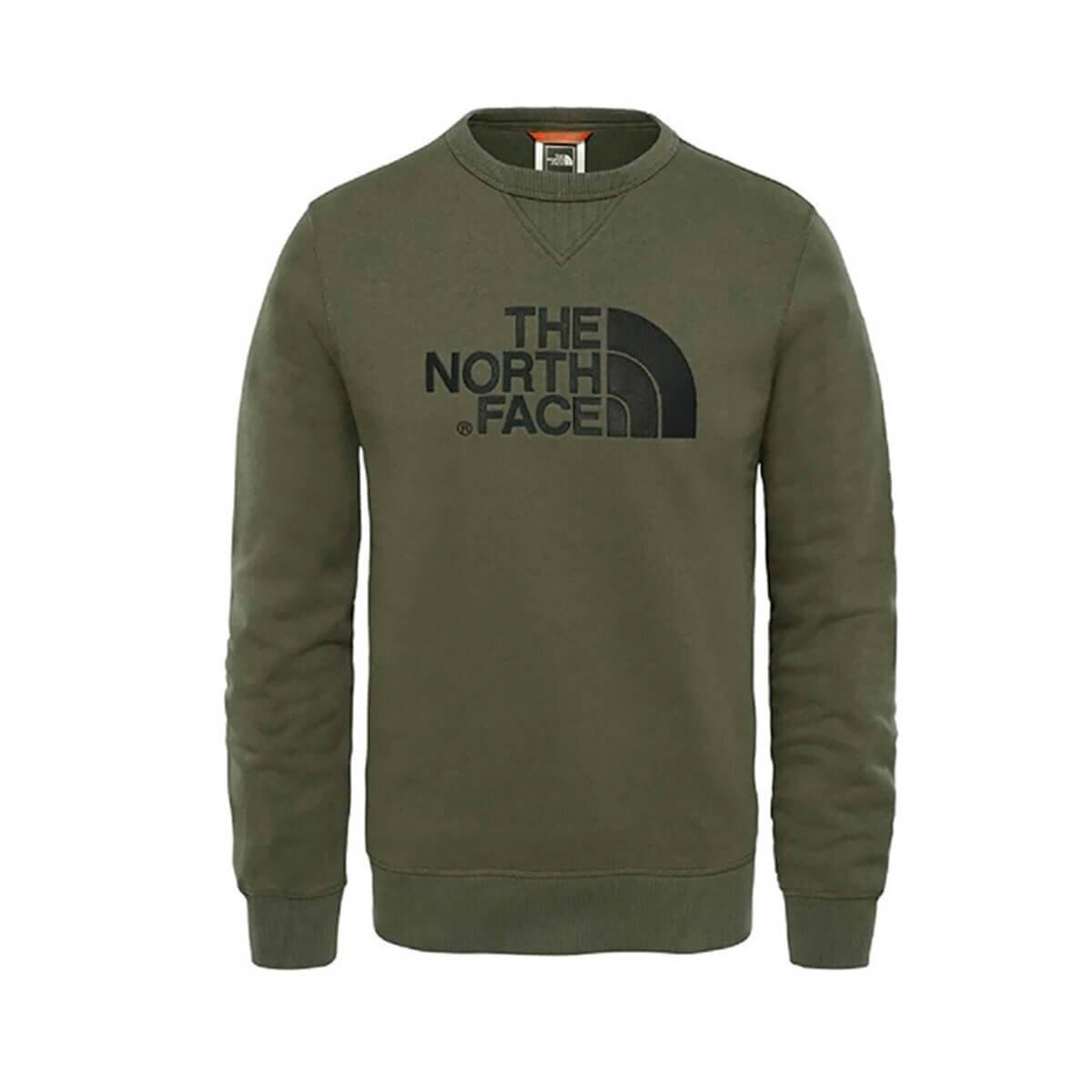 THE NORTH FACE HAKI Erkek Sweatshirt M DREW PEAK CREW