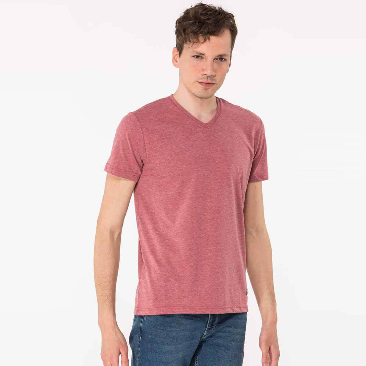 BORDO Erkek T-Shirt KALEY
