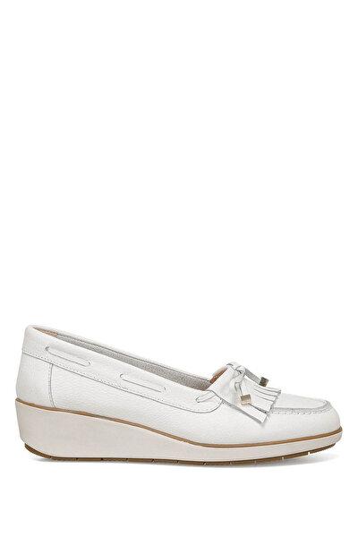 Nine West AGHA Beyaz Kadın Dolgu Topuk Ayakkabı