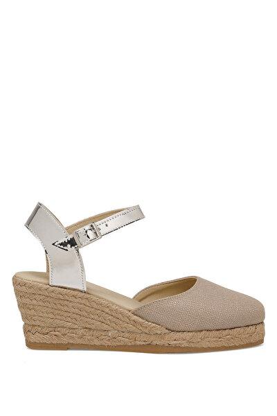 Nine West MORISOT Koyu Bej Kadın Dolgu Topuklu Sandalet