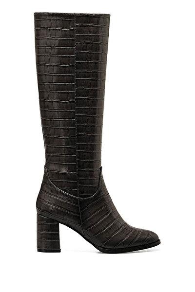 Nine West MASSA Gri Kadın Topuklu Çizme