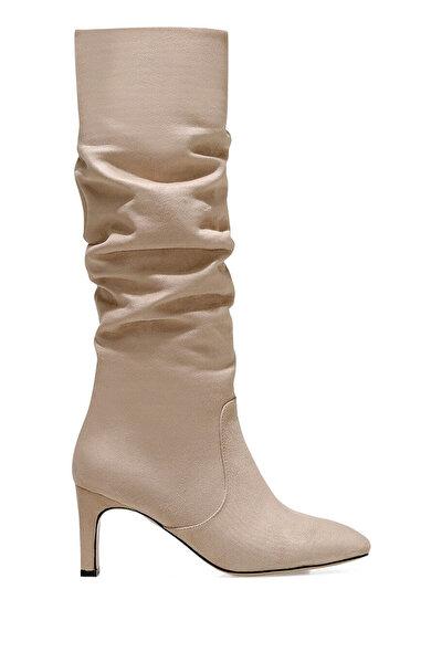 Nine West CAMOSA Bej Kadın Topuklu Çizme