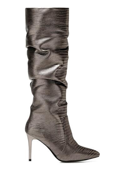 Nine West SISSO2 Antrasit Kadın Topuklu Çizme
