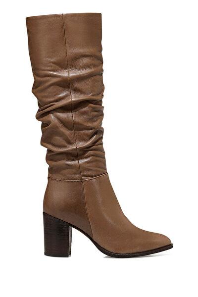 Nine West GAYDA Vizon Kadın Topuklu Çizme