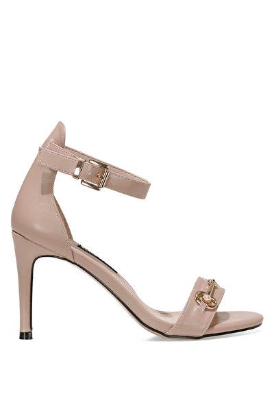 Nine West LEATRICE 1FX Naturel Kadın Topuklu Sandalet