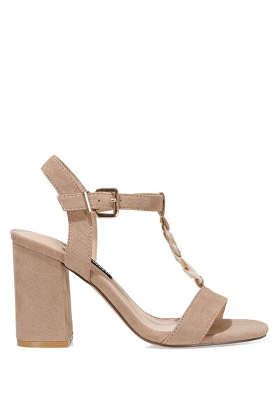 Nine West LOYAL 1FX Naturel Kadın Topuklu Sandalet