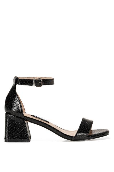 Nine West MARIE2 1FX Siyah Kadın Topuklu Sandalet