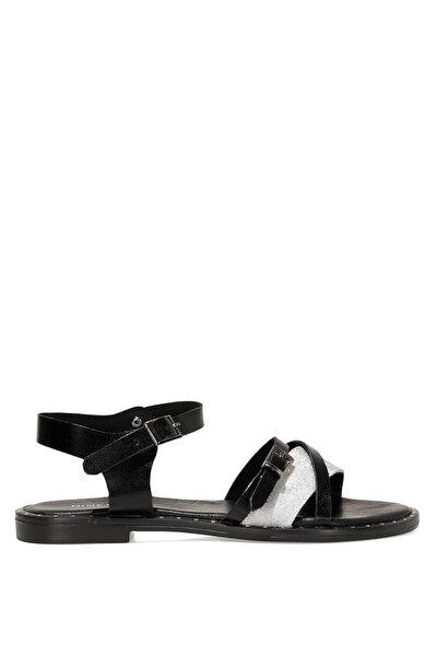 Nine West BEGOZMO 1FX Siyah Kadın Düz Sandalet