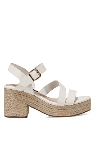 Nine West WEASA 1FX Beyaz Kadın Topuklu Sandalet