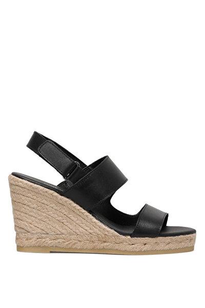 Nine West PURRA 1FX Siyah Kadın Dolgu Topuk Sandalet