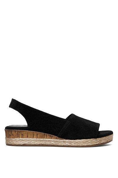 Nine West POMELIA2 1FX Siyah Kadın Dolgu Topuk Sandalet