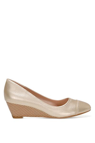 Nine West BLOCKER 1FX Altın Kadın Dolgu Topuk Ayakkabı