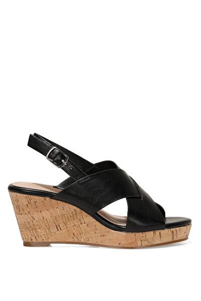Nine West ZAURIA 1FX Siyah Kadın Dolgu Topuk Sandalet