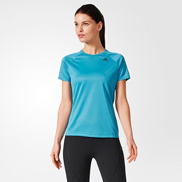 Adidas D2M TEE LOSE Mavi Kadın T-Shirt