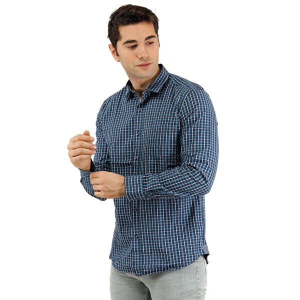 Phazz Brand 3012 Lacivert Erkek Uzun Kollu Gömlek