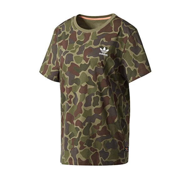 Adidas TSHIRT LOGO Kamuflaj Rengi Kadın T-Shirt