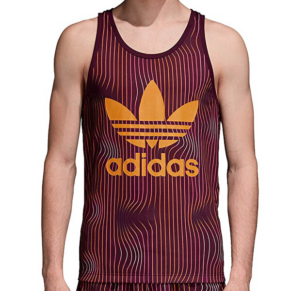 Adidas TREFOIL TANK Bordo Erkek Kolsuz T-Shirt
