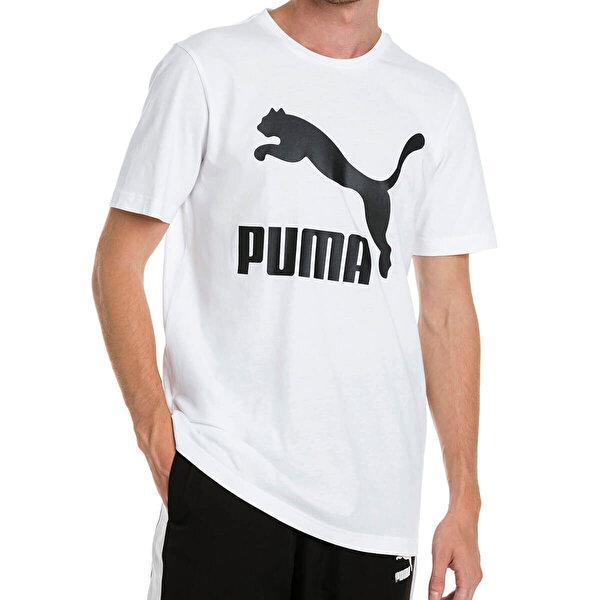 Puma CLASSICS LOGO Beyaz Erkek T-Shirt