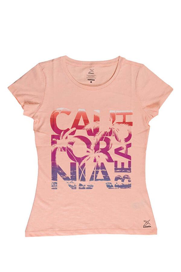 Kinetix JANE-2 T-SHIRT Somon Kadın Kısa Kol T-Shirt