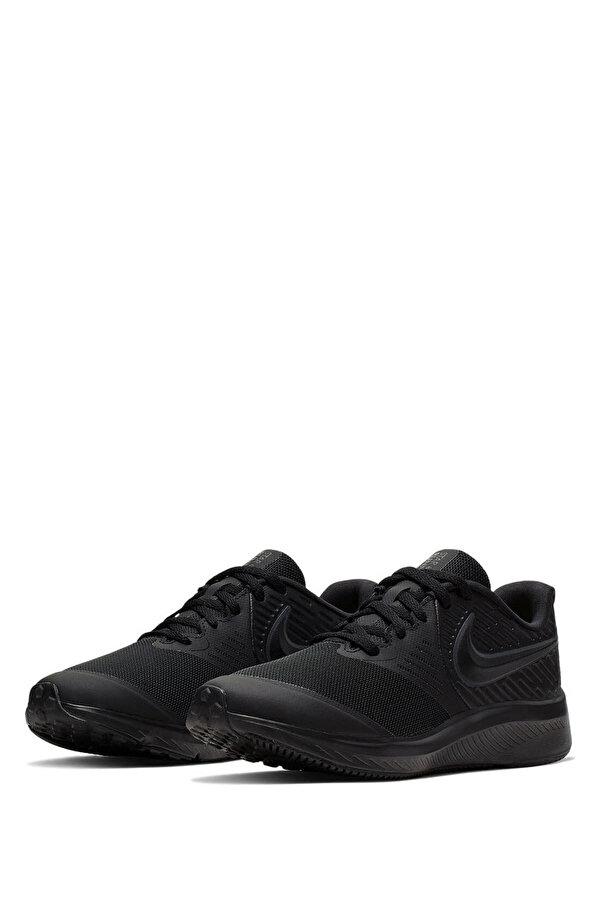 Nike STAR RUNNER 2 (GS) Siyah Erkek Çocuk Koşu Ayakkabısı