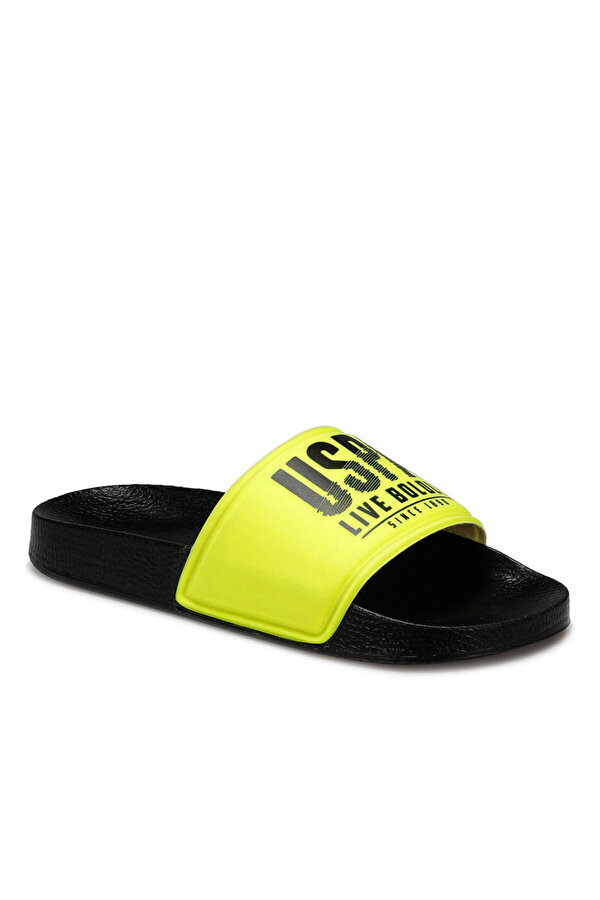 U.S. Polo Assn. GUSTY Neon Sarı Kadın Terlik
