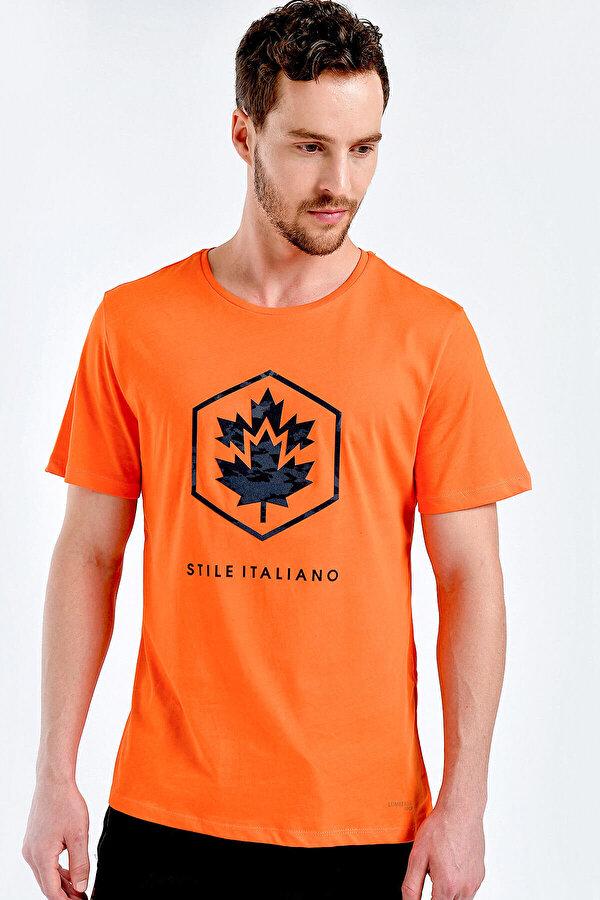 Lumberjack M-1839 TWİGGY KK TSHIRT Turuncu Erkek Kısa Kol T-Shirt