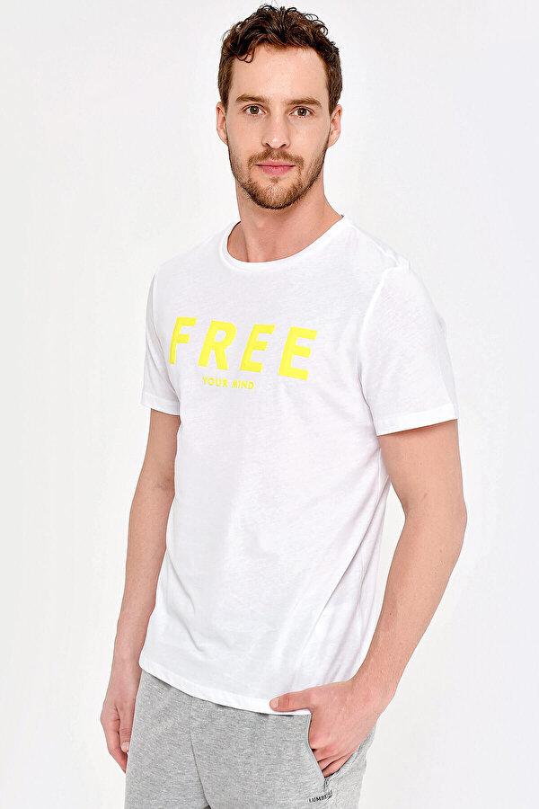 Lumberjack M-18162 CEİL KK TSHIRT Beyaz Erkek T-Shirt