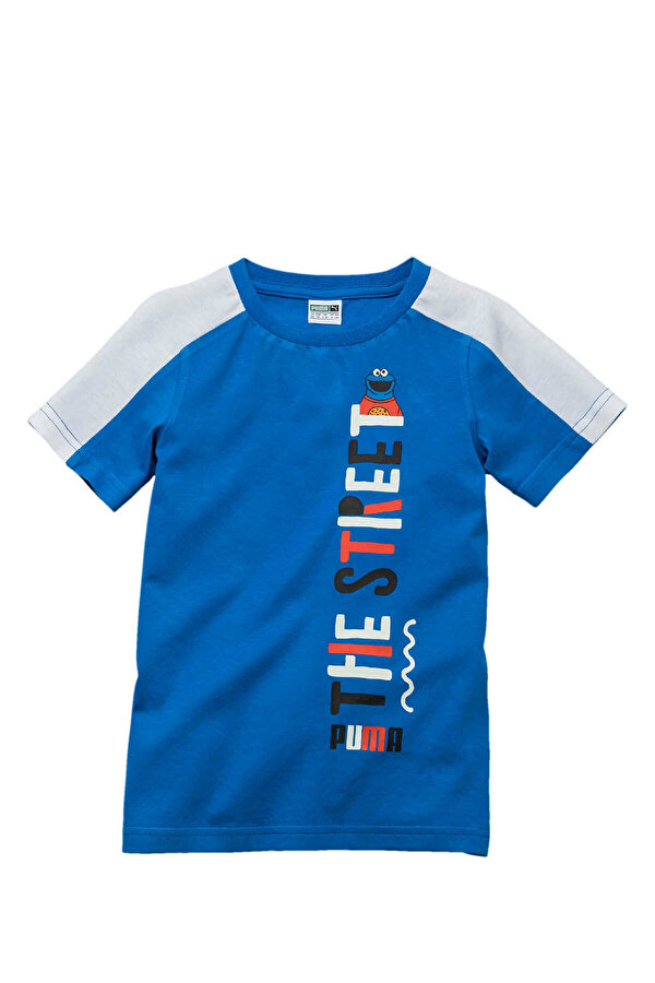 Puma SESAME Mavi Erkek Çocuk Kısa Kol T-Shirt