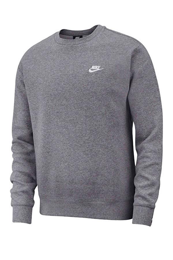 Nike M NSW CLUB CRW BB ANTRASIT MELANJ Erkek Sweatshirt