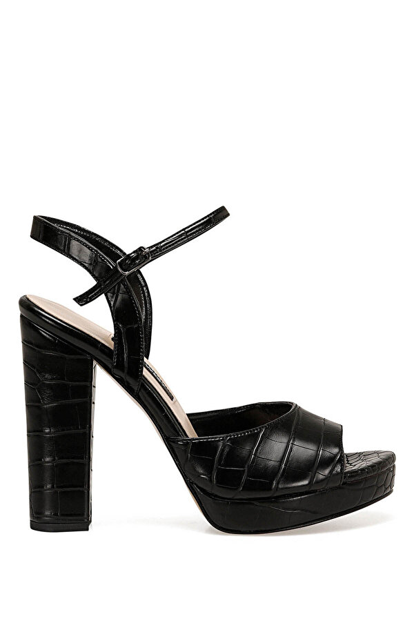 Nine West CENDO Siyah Kadın Topuklu Sandalet