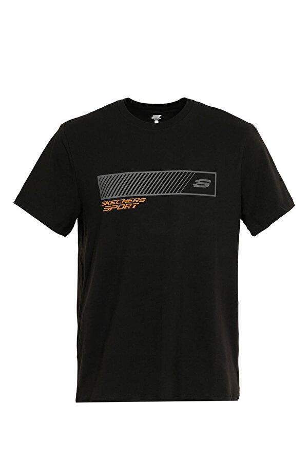 Skechers GRAPHIC TEE'S M CREW NECK Siyah Erkek T-Shirt
