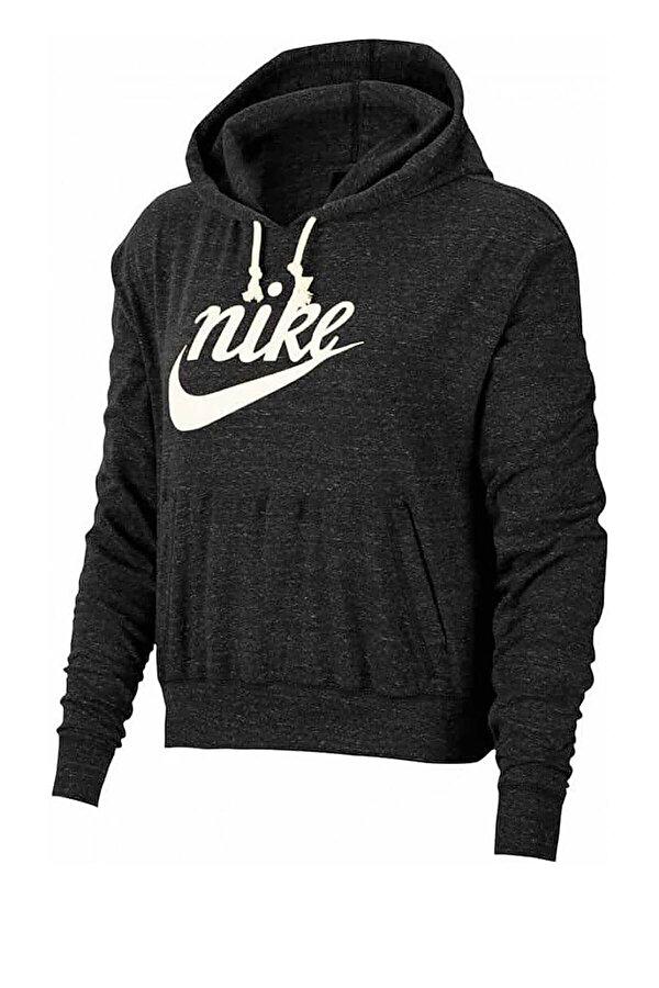 Nike W NSW GYM VNTG HOODIE HBR Siyah Kadın Eşofman