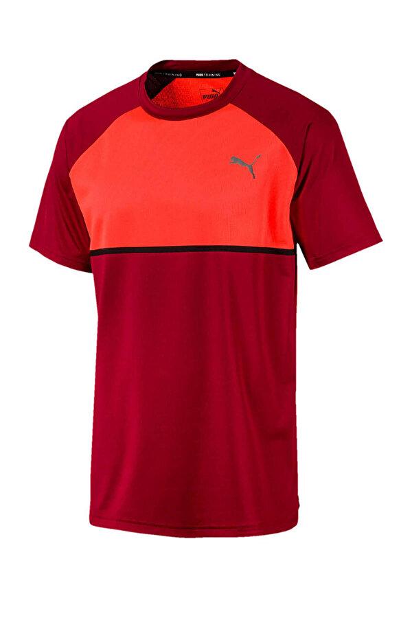Puma POWER BND TEE RHUBARB-NRG Kırmızı Erkek Kısa Kol T-Shirt
