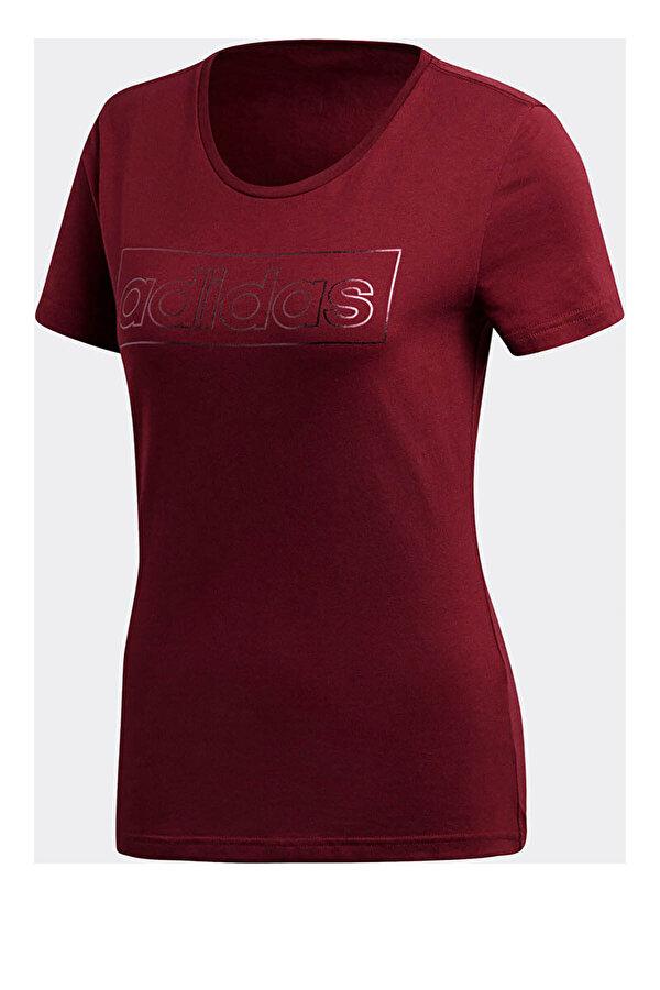 Adidas FOIL LINEAR Bordo Kadın Kısa Kol T-shirt
