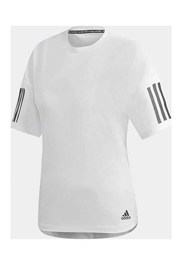 adidas W MH 3S Beyaz Kadın Kısa Kol T-shirt