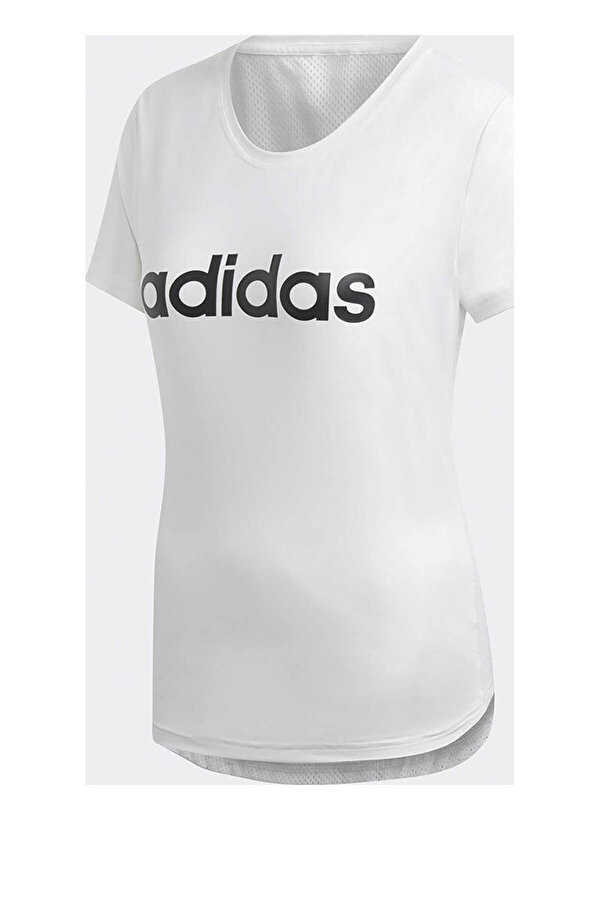 Adidas W D2M LO Beyaz Kadın Kısa Kol T-shirt