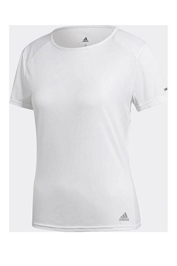 Adidas RUN IT TEE W Beyaz Kadın Kısa Kol T-Shirt