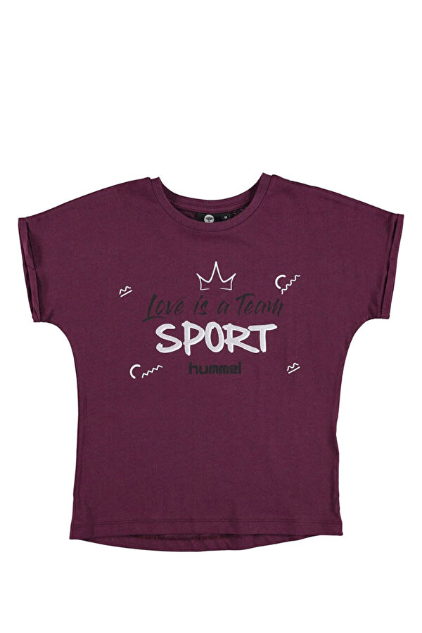 Hummel HMLCARLINA   T-SHIRT S/S Mor Kız Çocuk T-Shirt