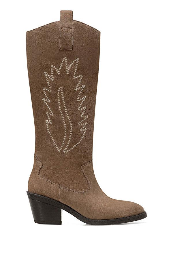 Nine West COSME2 Vizon Kadın Topuklu Çizme