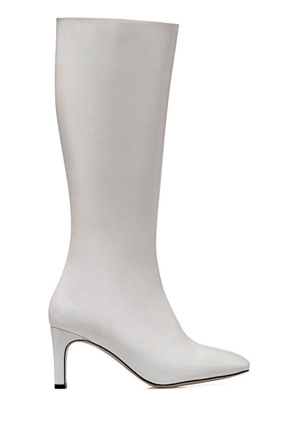 Nine West LAROSA Beyaz Kadın Topuklu Çizme