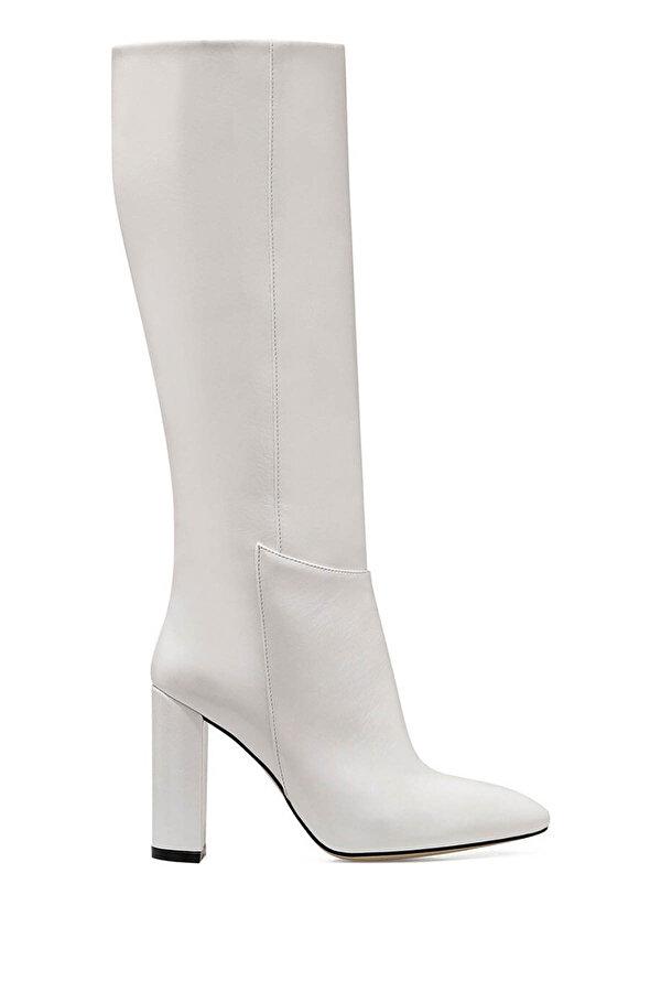 Nine West MIMA Beyaz Kadın Topuklu Çizme