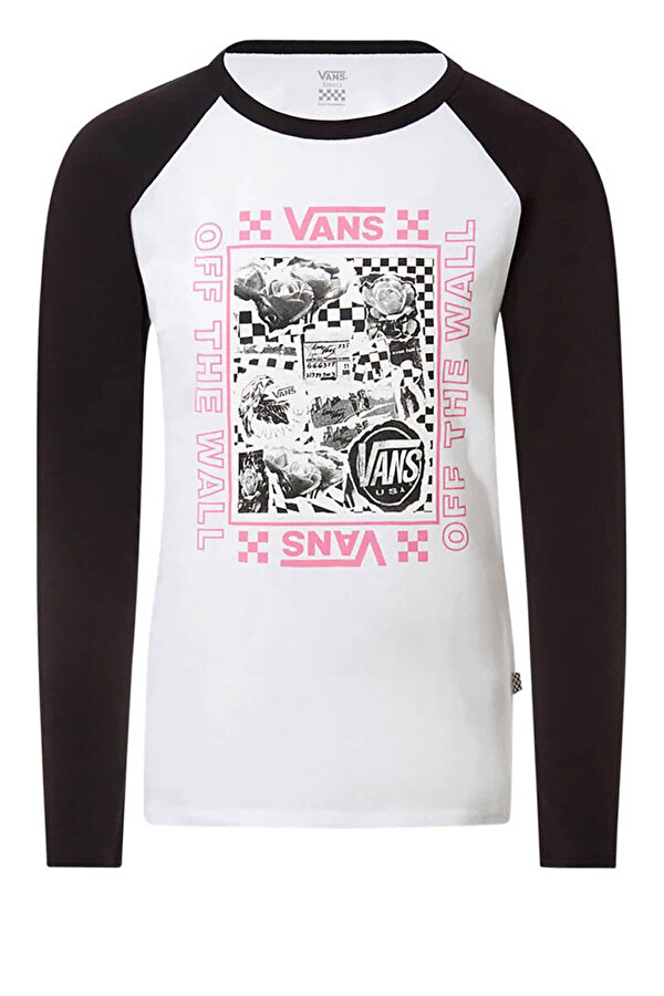 Vans LADY  STING LS RAGLAN DIY Beyaz Kadın Sweatshirt
