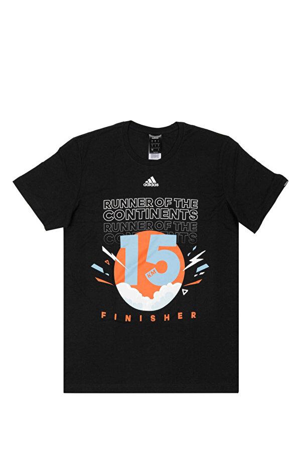 Adidas RUN 3S TEE M Siyah Erkek T-Shirt