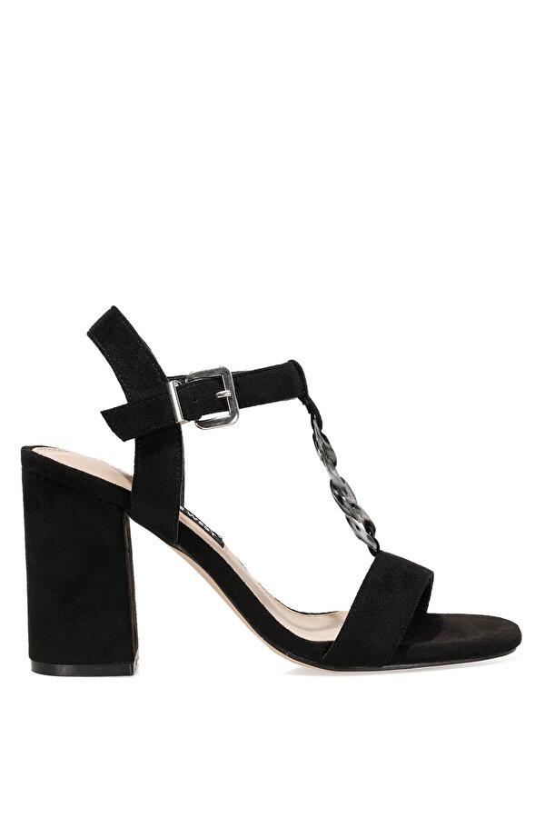 Nine West LOYAL 1FX Siyah Kadın Topuklu Sandalet