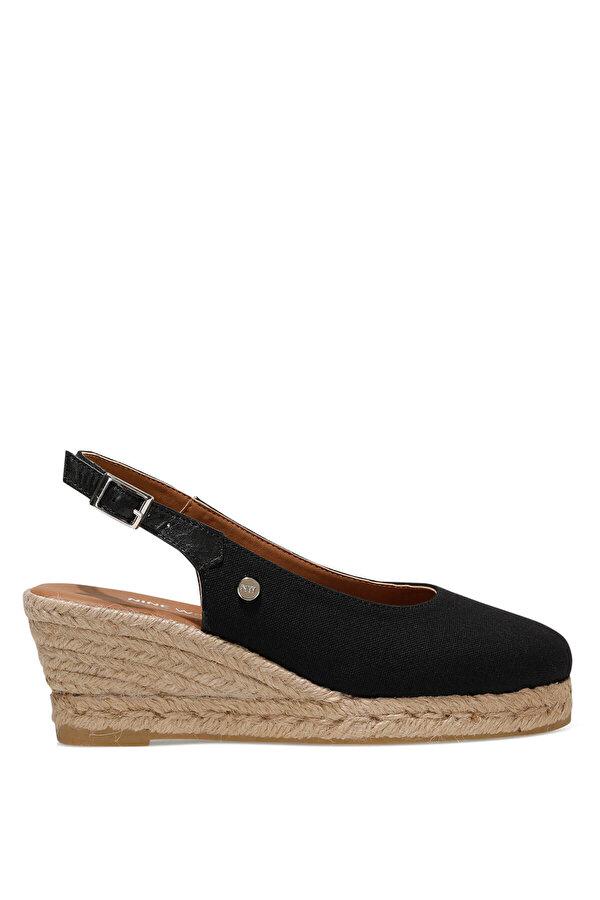 Nine West MERWILLA 1FX Siyah Kadın Dolgu Topuk Sandalet
