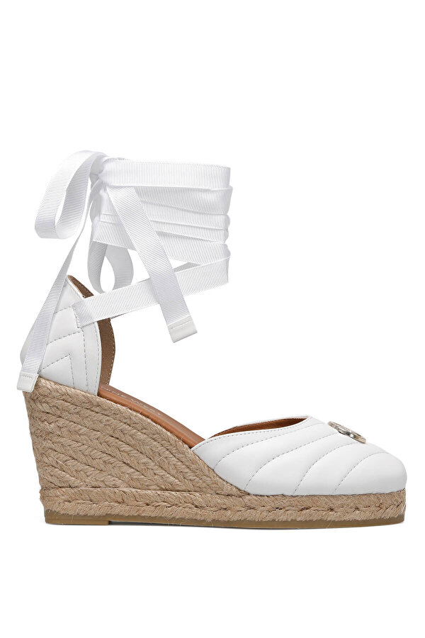 Nine West MIROSLOVA 1FX Beyaz Kadın Dolgu Topuklu Sandalet
